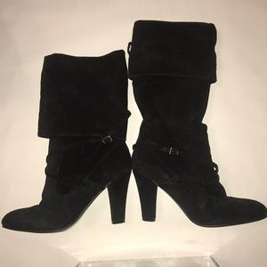 Like new Enzo Angiolini Convertible suede boots